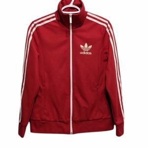 ADIDAS Zip up track red jacket size small